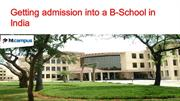 Getting admission into a B-School in India