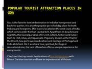 Popular Tourist Attraction Places in Goa