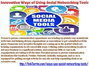 Creative Ways of Using Social Networking Implements by Link2Write