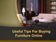 Tips For Buying Online Furniture