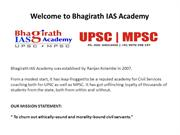 UPSC Coaching Center in Pune | Civil Services Classes in Pune