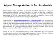 Airport transportation in Fort Lauderdale