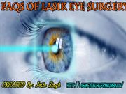 FAQs Of Lasik Eye Surgery