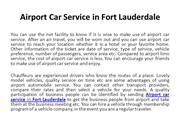 Airport car service in Fort Lauderdale