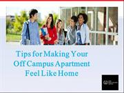 Tips for Making Your Off Campus Apartment Feel Like Home