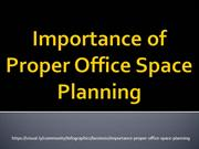 Importance of Proper Office Space Planning