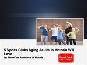5 Sports Clubs Aging Adults in Victoria Will Love