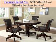 Furniture Rental Nyc - NYC's Best & Cost Effective Furniture Services!