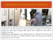 Tankless Done Right website