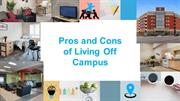 Pros and Cons of Living Off Campus