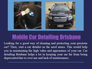 Mobile Car Detailing Brisbane