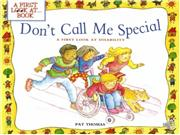Dont call me special bookfinal