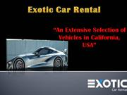 Exotic car Rental Palm Springs California