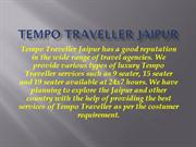 Book 9 Seater, 12 Seater, 17Seater Tempo Travellr In Jaipur,