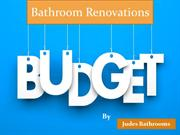 How budget and plan for bathroom renovations?
