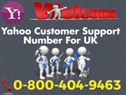 Yahoo Customer Care Help Desk UK 0-800-404-9463 For Debugging