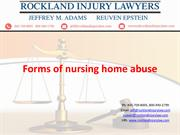 Forms of nursing home abuse