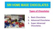 SRI HOME MADE CHOCOLATES