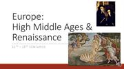 101_Medieval and Renaissance Europe (FINALS) RECORDING