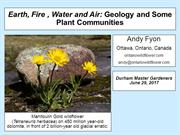 Earth, Fire, Water, Air - Geology and Plant Communities by Andy Fyon