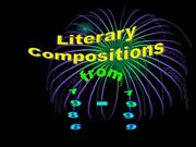 Literary Compositions from 1986-1999
