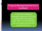 Property Management Service in Auckland