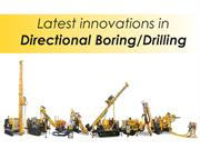 Latest innovations in Directional Drilling