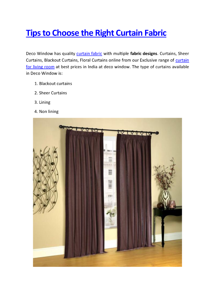 Tips to Choose the Right Curtain Fabric |authorSTREAM