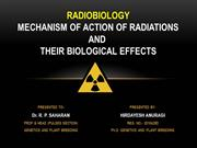 MUTATION - ACTIONS OF RADIATIONS