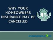 Why Your Homeowners Insurance May be Cancelled?