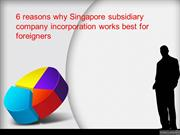 6 reasons why Singapore subsidiary company incorporation is best for f