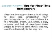 6 Little-Known Tips for First-Time Homebuyers