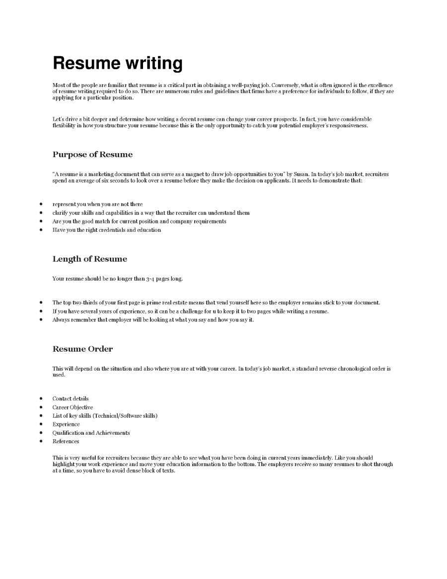 Resume Writing Cdr Writing Authorstream