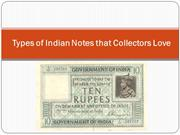 Types of Indian Notes that Collectors Love