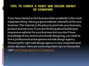 Tips to Choose a Right Web Design Agency in Singapore