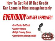 Get rid of bad credit car loans in Mississauga instantly