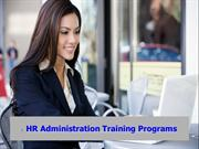 HR Administration Training Programs