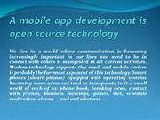 A mobile app development is open source technology
