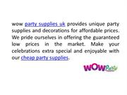 Cheap party supplies | Party supplies UK | Party decorations UK
