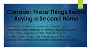 Consider These Things Before Buying a Second Home