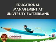 Educational Management At University Switzerland