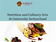 Nutrition and Culinary Arts At University Switzerland