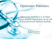 Openventio Publishers - Publisher of Medical Journals