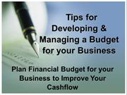 Tips for Developing & Managing a Budget for your Business
