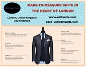 MADE-TO-MEASURE SUITS IN THE HEART OF LONDON