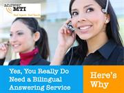 Yes You Really Do Need a Bilingual Answering Service Here's Why