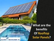 What are the benefits of rooftop solar panels?