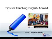 TEFL-Tips for Teaching English Abroad