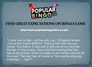 FIND GREAT EXPECTATIONS ON BINGO GAME
