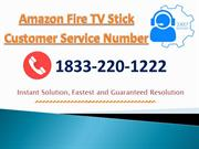 Amazon Fire TV Stick Customer Service